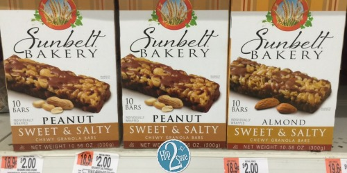 Walmart: Sunbelt Bakery Granola Bars 10-Count Only $1.25 (Great for School Lunches!)