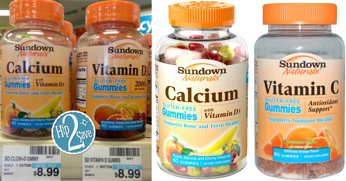 image regarding Ester C Coupons Printable identify Fresh new $2/1 Sundown Naturals Gummy Vitamin Coupon \u003d Merely $2.50