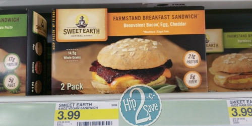 Super Target: Sweet Earth Breakfast 2-Pack Sandwiches 30¢ Each After BerryCart (Reg. $3.99)