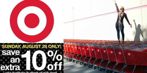 Target: 10% Off Storewide Coupon (August 28th Only) + Extra $5 Off $25 Cat & Jack Clothing