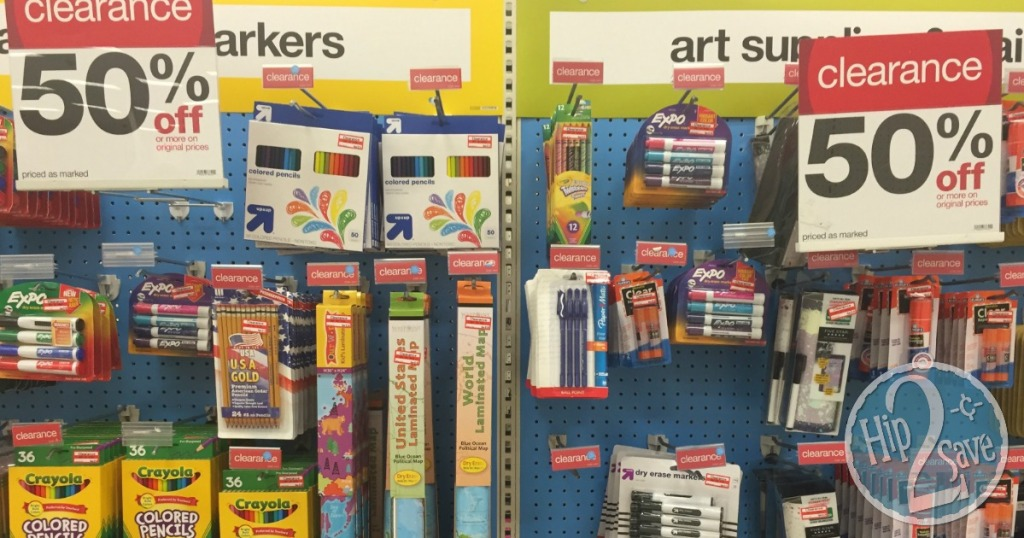Target back to school clearance