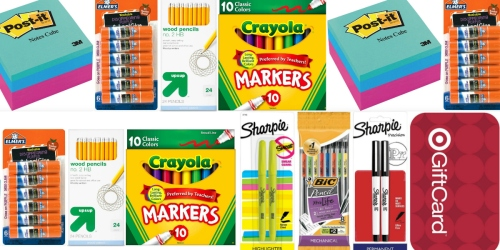Target.com: 31 School Supplies ONLY $25.69 After Gift Card (Crayola, Elmer's, Post-It & More!)