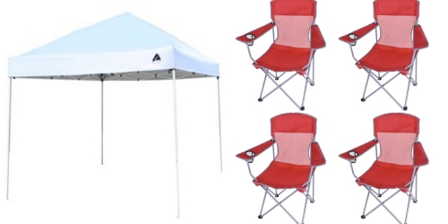 Walmart: Ozark Trail Instant Canopy w/ 4 Chairs ONLY $64 Shipped (Regularly $113.76)