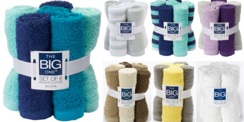 Kohl's Cardholders: The BIG One Wash Cloths 6-Pack ONLY $2.79 Shipped (Just 47¢ Each)