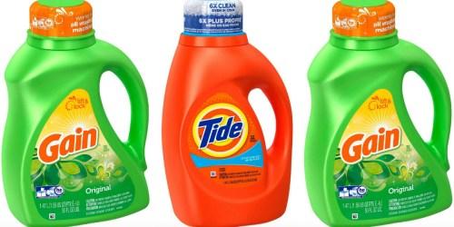 CVS Shoppers! Score 6 Bottles of Tide & Gain Liquid Laundry Detergent for ONLY $10