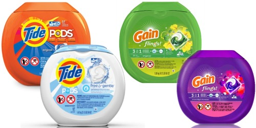 New $2/1 Tide Pods and Gain Flings Coupons = Nice Deals at Walgreens, Rite Aid & Target