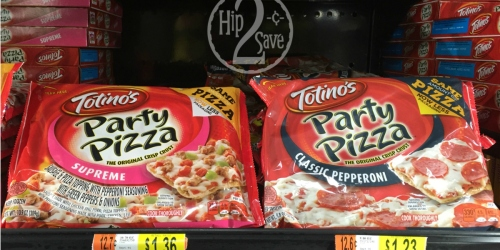 NEW $1/4 ANY Totino's Party Pizza Coupon = Only 98¢ Each at Walmart