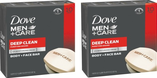 Amazon: Dove Men+Care Body and Face Bar 10 Count Pack Only $8.28 Shipped
