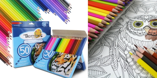 Thornton's Art Supply Premier 50-Piece Colored Pencils Only $9.99 Shipped (Great Reviews!)