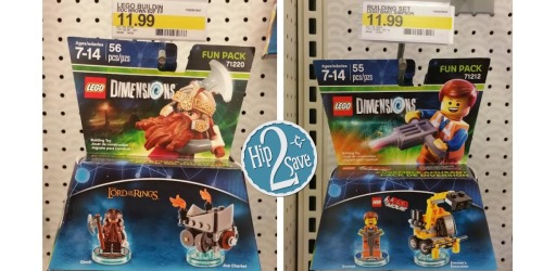 Target Cartwheel: 70% Off LEGO Dimensions Fun Packs = Only $3.60