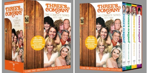 Three's Company: The Complete Series on DVD Only $34.96 (Regularly $134.98) – All 174 Episodes