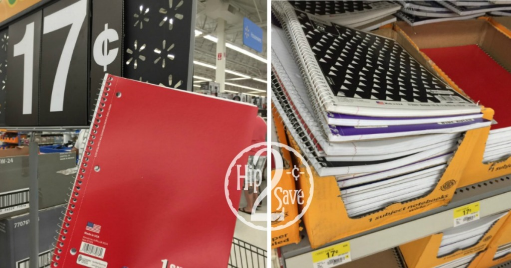 Walmart Back To School Deals 17 Notebooks 82 Wide Ruled Paper