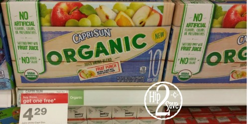 Target: Organic Capri Sun Juice Pouches Only $1.83 Per Box (Regularly $4.29)