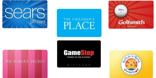$100 Sears eGift Card $88, $100 Victoria's Secret Gift Card $94 + More Discounted Gift Card Deals