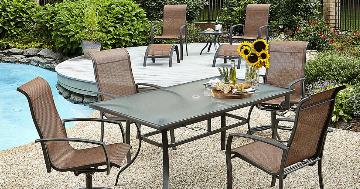 Kmart Com 10 Piece Outdoor Dining Set Only 180