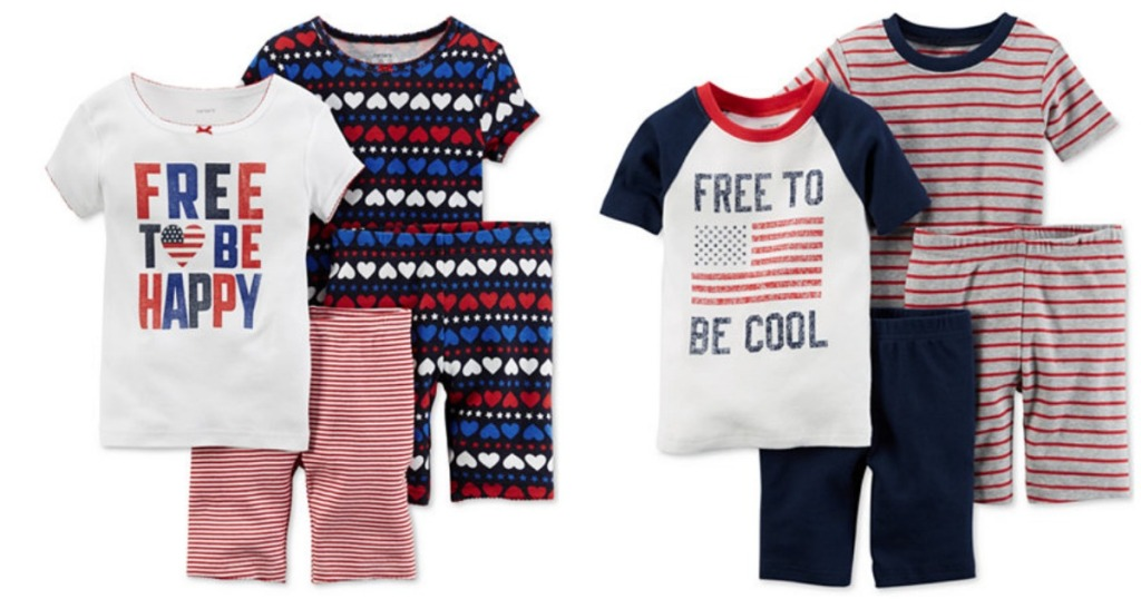 5714cb0e8797 Macy s  Extra 20% Off Clearance Clothing   Carter s 4-Piece PJ Sets ...