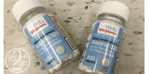 Walgreens Shoppers! Score 2 FREE Walgreens Aspirin 100 Count Bottles (No Coupons Needed)