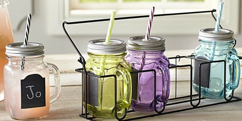Pier One Imports: FREE Shipping on EVERY Order = Mason Jar Tumbler Set & Carrier Only $12.98