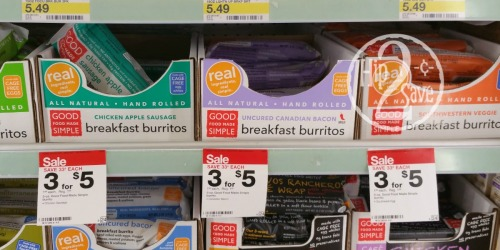 Target Shoppers! Good Food Made Simple Breakfast Burritos Only 16¢ or FREE Today