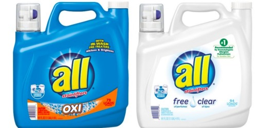 Target: All Liquid Detergent 150oz Only $5.19 Shipped (After Gift Card) + More Deals