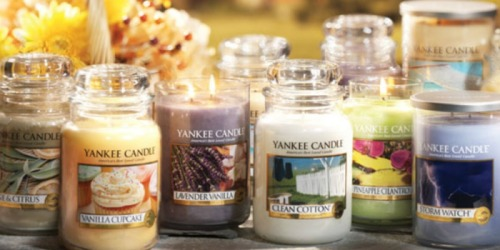 Yankee Candle: $10 off $25 OR $25 off $50 Coupon = Large Jar Candle & $25 Gift Card Only $33.98 Shipped