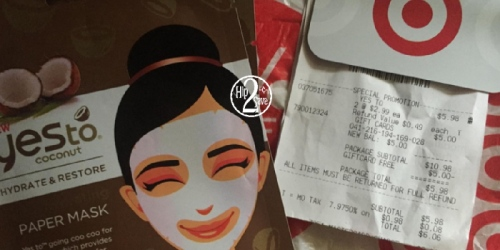 Target: Yes To Facial Masks Only 49¢ Each (After Gift Card) – Regularly $2.99