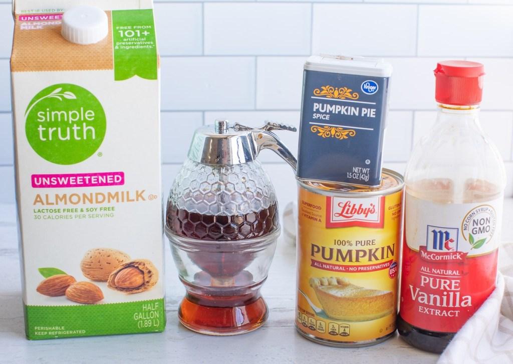 ingredients needed for non-dairy pumpkin spice creamer