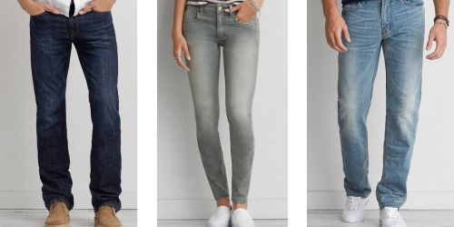 American Eagle Outfitters: Buy 1 Get 1 50% Off Jeans = Men's Jeans Just $18.71 Each (Regularly $49.95)