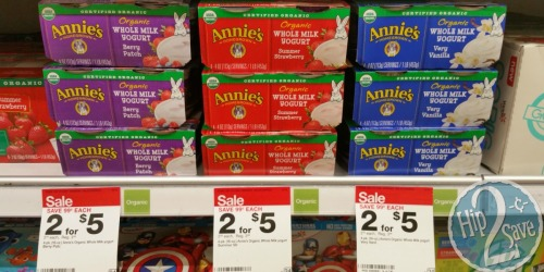 Target: Annie's Organic Yogurt 4 Pack Only $1 and Yogurt Tubes 8 Pack Only $1.40