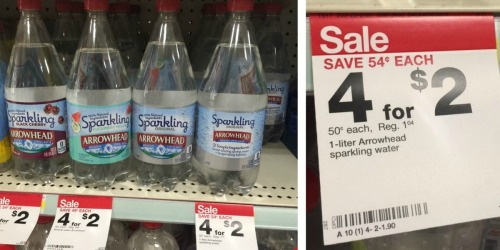 Target: Save 50% on Sparkling Water 1-Liter Bottles (No Coupons Needed)