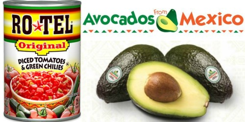 Nice Savings on Avocados + FREE RoTel Tomatoes at Walmart & Target (After Checkout 51)