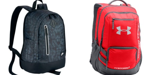 Finish Line: Nice Deals On Nike and Under Armour Backpacks