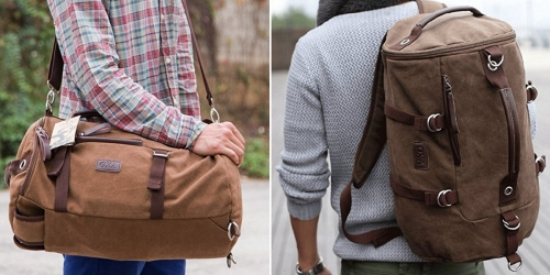 Amazon: OXA Canvas Backpack/Travel Duffel Bags Only $29.99