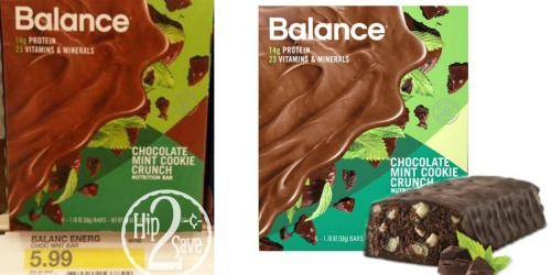 Target: Balance Bar Chocolate Mint Cookie 6 Count Only $2.99