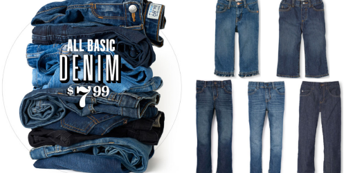 The Children's Place: ALL Basic Denim $7.99 Shipped (Sign Up & Score $10/$40 Coupon)