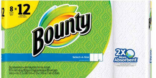 New $1/1 Bounty Paper Towel Coupon = 8-Pack of Giant Rolls Just $6.49 at Target (Only 81¢ Per Roll!)