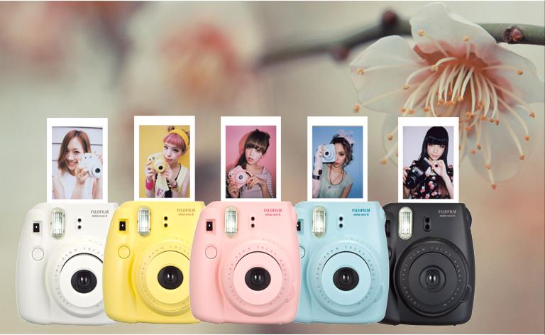 brand-new-fujifilm-instax-mini-8-pink-polaroid-instant-camera-2-boxes-instax-mini-film-plain