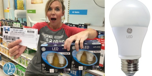 Score a 2-Pack of GE LED Light Bulbs for ONLY $1.99 Each at Target (Regularly $9.99)