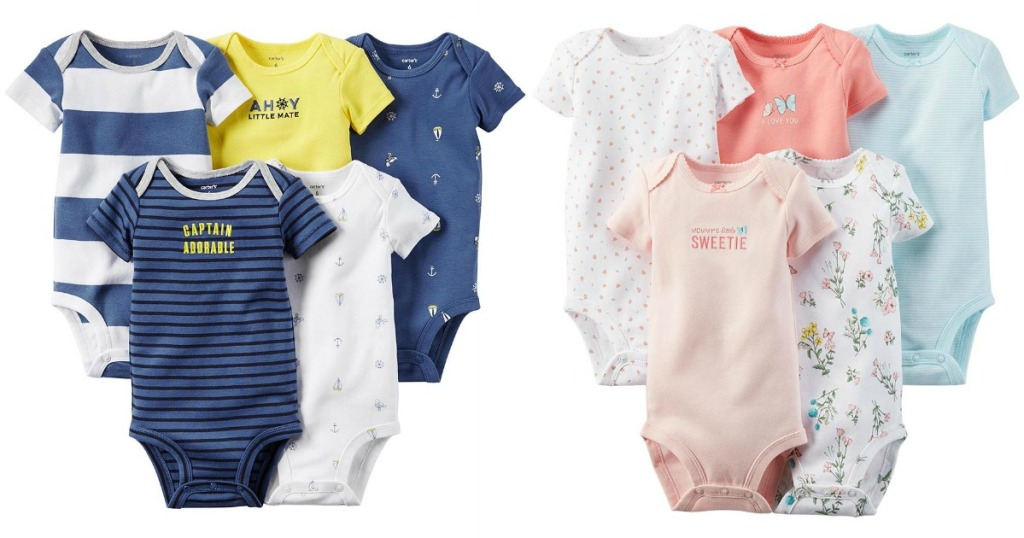 ed5908611 Sears.com: Extra 30-50% Off Clearance = Carter's 5-Pack BodySuits ...