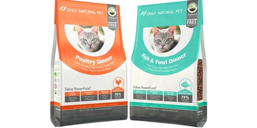 Only Natural Pet Grain-Free 1lb Dry Cat Food Only 99¢ Each Shipped (Regularly $3.49)