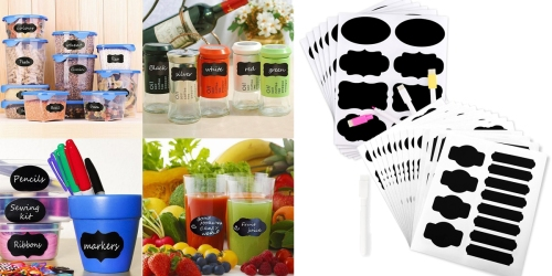 Amazon: 48 Piece Reusable Chalkboard Stickers AND Markers ONLY $5.58