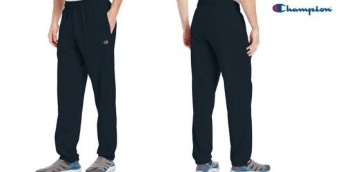 Amazon: Men's Champion Navy Blue Lightweight Sweatpants Just $6.99 (Select Sizes Only)