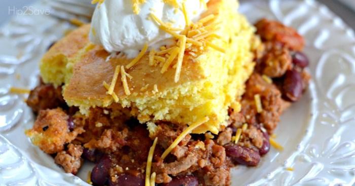 Craving Comfort Food? Make this Cornbread Chili Casserole