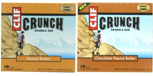 Amazon: Clif Crunch Granola Bar 10 Count Pack Only $2.84 Shipped