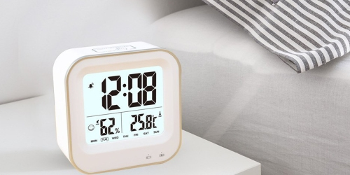 Amazon: Rechargeable Digital Alarm Clock Only $11.99 (Regularly $29.99) – Offers Nightlight Feature