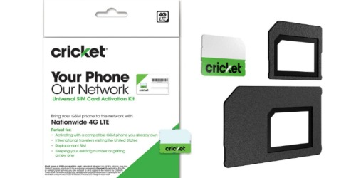 Amazon: Cricket Wireless Universal SIM Card Only $1 (Allows You To Activate Your Own Phone)