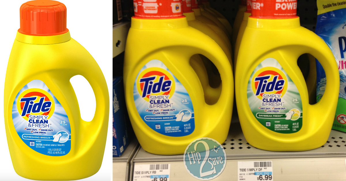 photograph regarding Tide Simply Clean Printable Coupons referred to as Clean $1/1 Tide Very easily New and Refreshing Detergent Coupon - Hip2Conserve