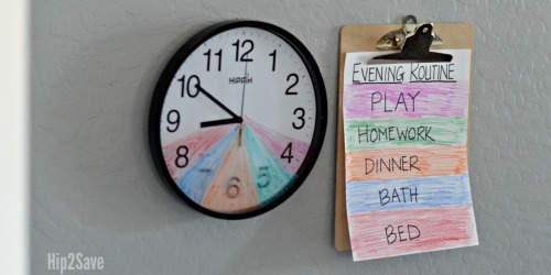 Are Your Evenings a Bit Hectic? Create this DIY Kids Routine Clock