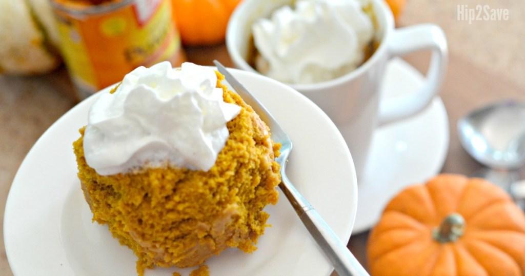 tiny pumpkin cake on plate