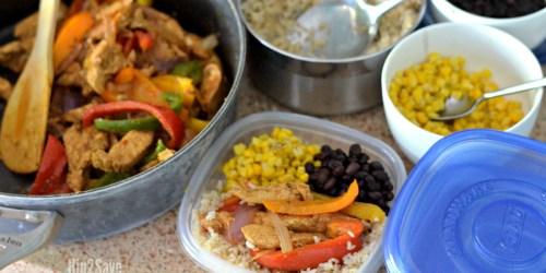 Skillet Chicken Fajitas Recipe AND Easy Meal Prep Idea